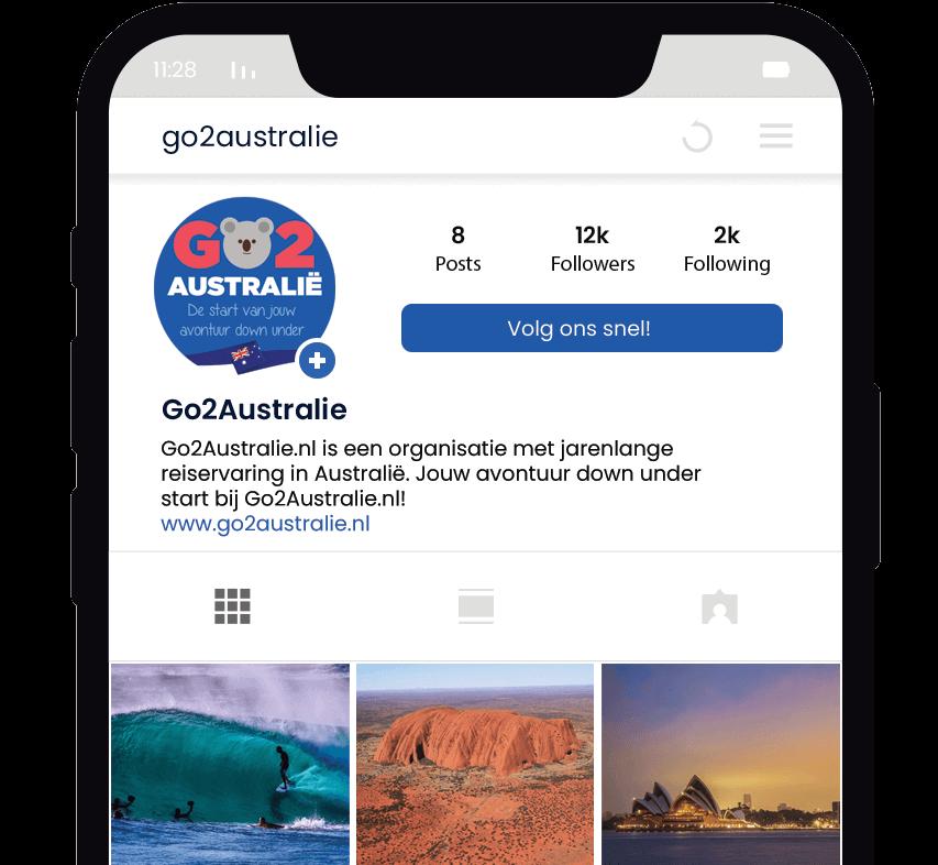 Volg Go2Australie op Instagram